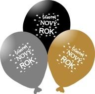 Balónky Šťastný NOVÝ ROK mix 5 ks