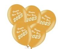Balónky Happy New Year 2019 mix 5ks černé a zlaté balónky