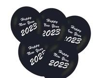 Balónky Happy New Year 2019 mix 5ks bílé a stříbrné balónky