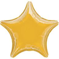 Balónek hvězda zlatá metalická 23 cm malá