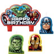 Avengers svíčky k narozeninám 4 ks