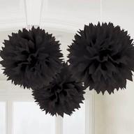Závěsné dekorace černé 3 ks 40,6 cm