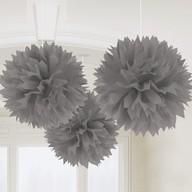 Závěsné dekorace stříbrné 3 ks 40,6 cm