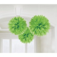 Závěsné dekorace zelené 3 ks 40,6 cm