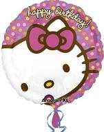 Hello Kitty narozeniny foliový balónek 45cm