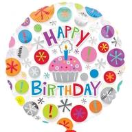 Foliový balónek šťastné narozeniny 45cm