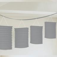 Lampionové girlandy stříbrné 3,65m