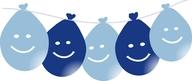 Balonky smajlík visící LED svítící 5ks mix modré
