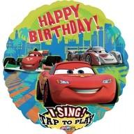 Foliový balonek hrající Cars narozeniny 71cm