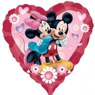 Foliový balonek Mickey & Minnie srdce 81cm