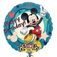 Foliový balonek Mickey Mouse narozeniny hrající 81cm