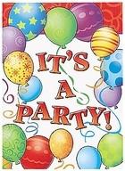 Pozvánky na narozeniny 8ks