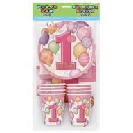 1.narozeniny party set 25ks růžový