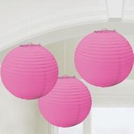 Lampiony růžové 3 ks 24 cm