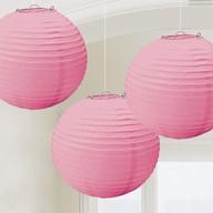 Lampiony světle růžové 3 ks 20,4 cm