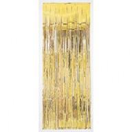 Závěsná dekorace zlatá 243 cm x 91 cm