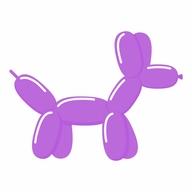 Tvarovací balonek lavender