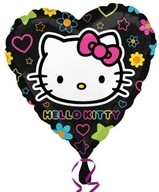 Hello Kitty srdíčko fóliový balónek 45cm