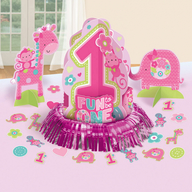 Dekorace na stůl k 1. narozeninám holka 23 ks