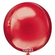 Foliový balónek červená koule 38 cm