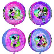 Minnie Mouse foliový balónek kulatý 38x40cm