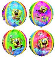 SpongeBob fóliový balónek kulatý 38x40 cm