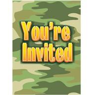 Army pozvánky na party 8ks