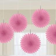 Závěsné dekorace světle růžové 5 ks 15,2 cm