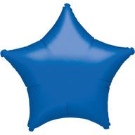 Hvězda modrá metalická 48cm