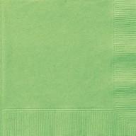 Ubrousky Lime Green 20ks 2-vrstvé 33cm x 33cm