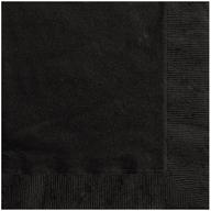 Ubrousky černé 20ks 2-vrstvé 33cm x 33cm