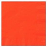 Ubrousky oranžové 20ks 2-vrstvé 33cm x 33cm