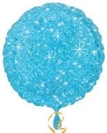 Balónek kruh modre hvězdy 43cm