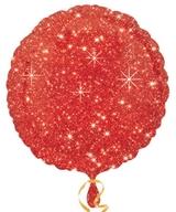 Balónek kruh červené hvězdy 43cm