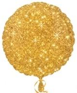Balónek kruh zlaté hvězdy 43cm