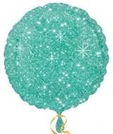 Balónek kruh zelené hvězdy 43cm