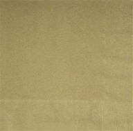 Ubrousky zlaté 20ks 2-vrstvé 33cm x 33cm
