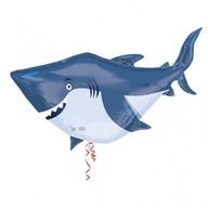 Žralok foliový balónek 101cm x 81cm