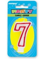 Svíčka na dort číslo 7