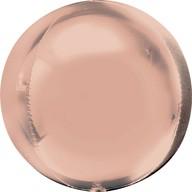 Foliový balónek koule růžovo-zlatá 38 cm