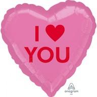 Balónek srdíčko I Heart You 43 cm