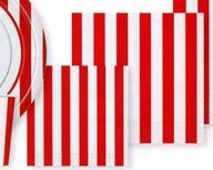 Ubrousky červený proužek 16ks, 25 cm x 25 cm
