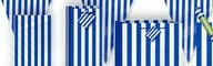 Ubrousky modrý proužek 16ks, 25,4 cm x 25,4 cm