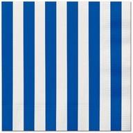 Ubrousky modrý proužek 16ks, 33 cm x 33 cm