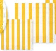 Ubrousky žlutý proužek 16ks