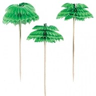 Party ozdoba palma 7,6cm - 6ks