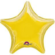 Balonek foliový hvězda Yellow Metallic