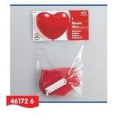 Balónky srdce velké 90cm + uzávěr