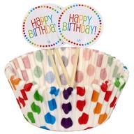 Košíčky na muffiny a vlajky 24 ks narozeniny
