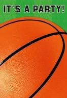 Basketbal pozvánka na party 8ks